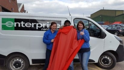 Keltic donate fabric for Schools playcare network 3